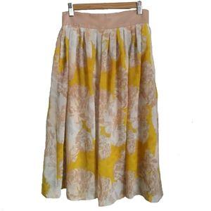 CYNTHIA ROWLEY Flowy Floral Midi Skirt, size 4